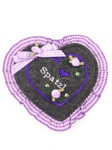 Trachten Geldtasche / Geldbeutel lila