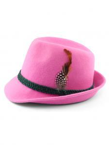 Trachtenhut mit Feder rosa