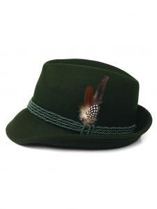 Trachtenhut mit Feder grün
