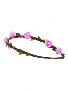 Trachten Haarband Rose Leder rosa