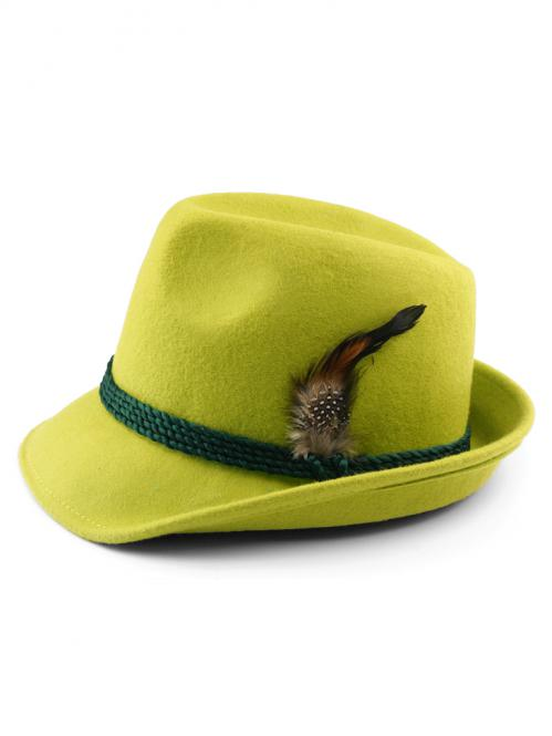 Trachtenhut mit Feder apfel grün