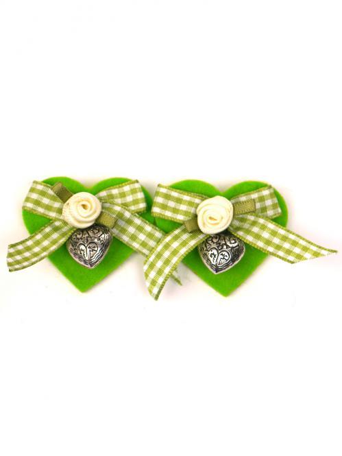 Trachten Schmuck Schuhclip 2er Paar grün