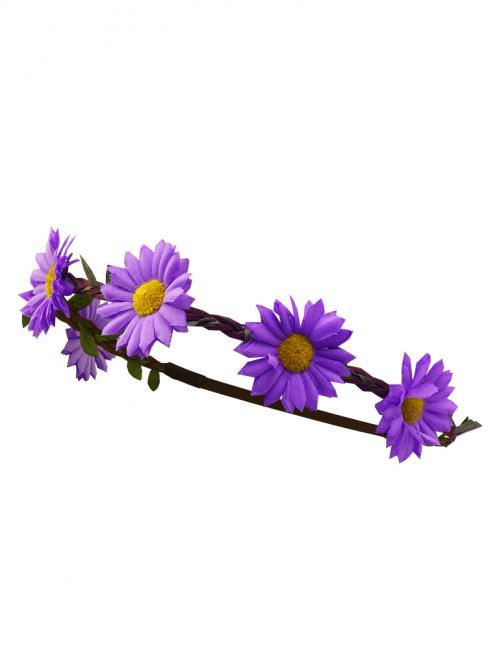 Trachten Haarband Margeriten Leder lila
